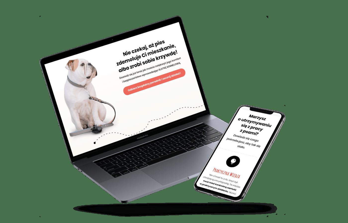 Strona lejka marketingowego dla Jacka Gałuszki