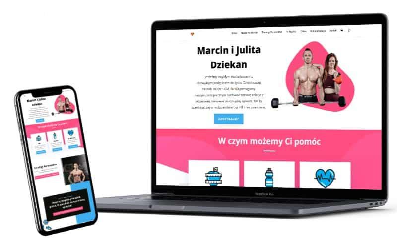 Strona lejka marketingowego dla Emilii Nikoniuk